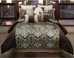 Hallmart Collection Burgess Comforter Set traditional-bedding