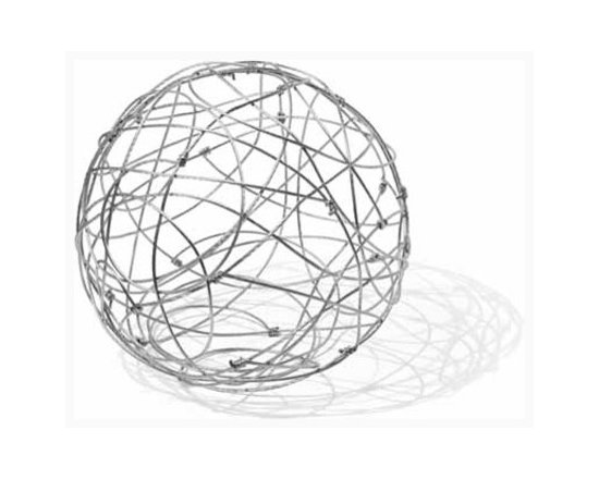 Cable Ball - Distinctive Metal Ball - This ball would be a striking piece of artwork. I can see this with vines growing on it for additional effect.