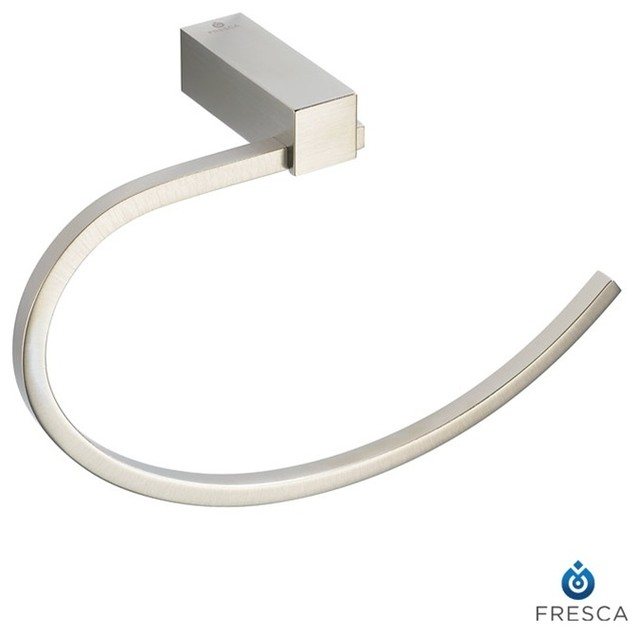 bathroom towel ring brushed nickel modern towel bars and hooks