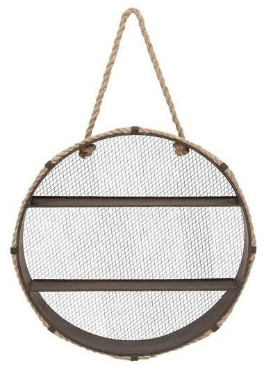 Unique Metal Wall Rope Round Shelf Contemporary
