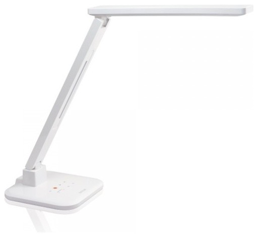 led desk lamp with touch control dimmable lighting white modern desk. Black Bedroom Furniture Sets. Home Design Ideas