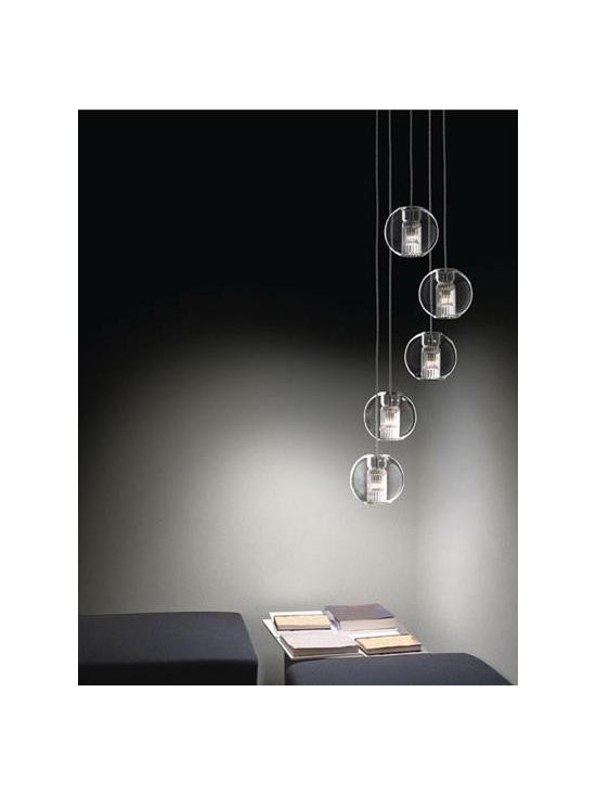 Fairy S/S Pendant Lamp By Leucos Lighting - The Leucos Fairy SS Pendant Lamp by Leucos Lighting is the sphere glass suspension model in the Fairy collection.