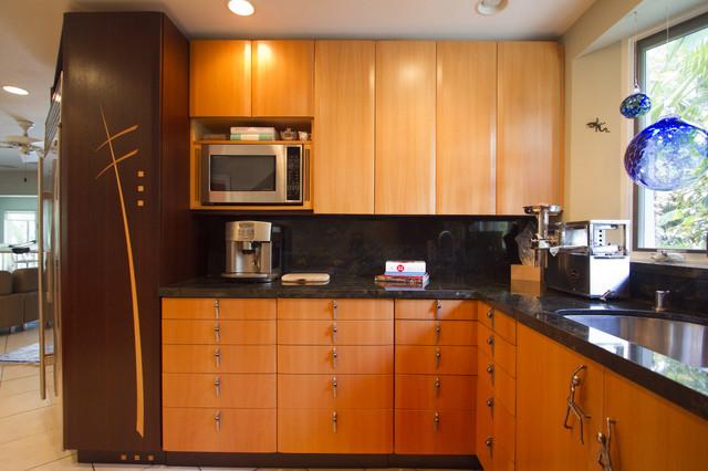Wenge and Beech Kitchen modern-kitchen