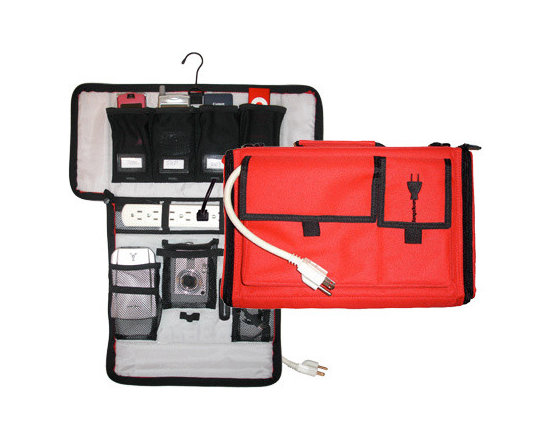 Great Useful Stuff - Travel Cord Organizer & Charging Case, Red -