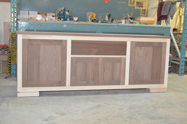 Walnut TV Stand contemporary-buffets-and-sideboards