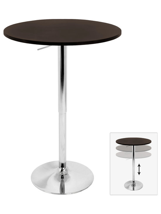 Adjustable Bar Table - BROWN