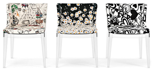 Kartell Mademoiselle Chair - Moschino Fabrics modern-dining-chairs
