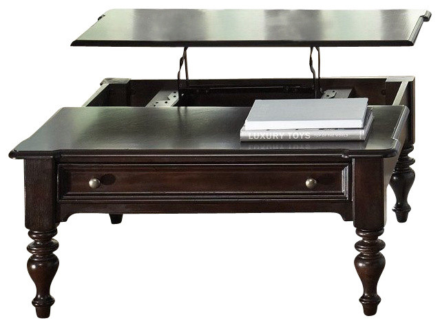 Liberty furniture river street 40 inch square lift top for 40 x 40 square coffee table
