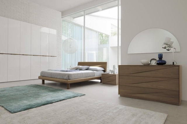 Made in italy wood designer bedroom furniture sets with extra storage