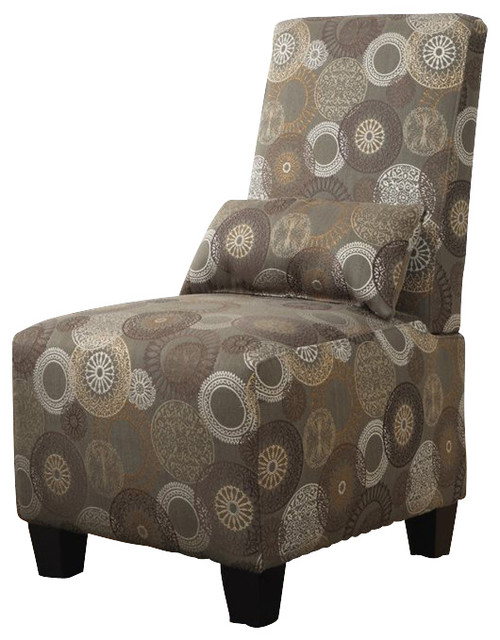Serta Trinidad Slipper Accent Chair in Sage Print Fabric transitional-chairs