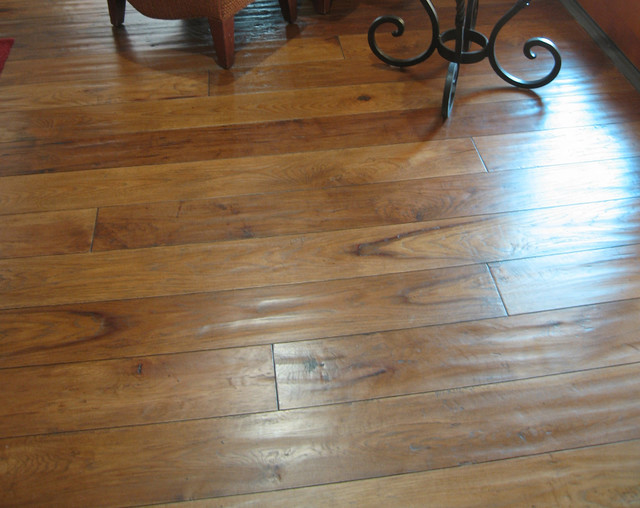 Hand-scraped Rustic Hickory traditional-floors