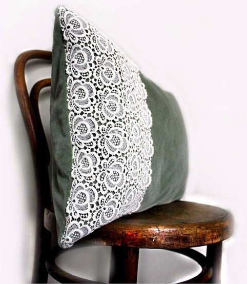 Emerald Isle Throw Cushion by Kaftan Sarafan contemporary pillows