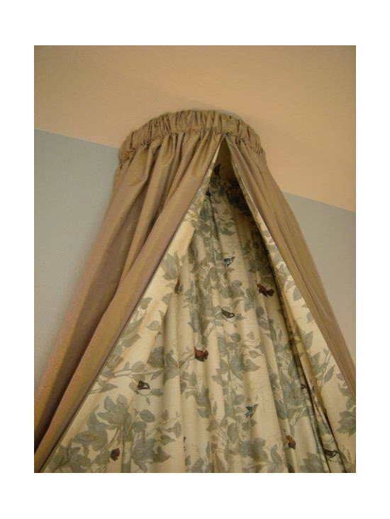 Beautiful Bedding - Custom bedding with over the bed canopy custom designed for client
