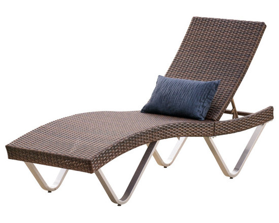 Great Deal Furniture - Manuela Outdoor Single Multibrown Wicker Chaise Lounge Chair - Enjoy a contemporary twist on traditional outdoor seating with the Manuela Chaise Lounge. This lounge is curved to fit the form of the body for maximum comfort and relaxation and adjusts to your lounging preferences. When not in use, you can fold this chair in half and tuck the legs for storage.