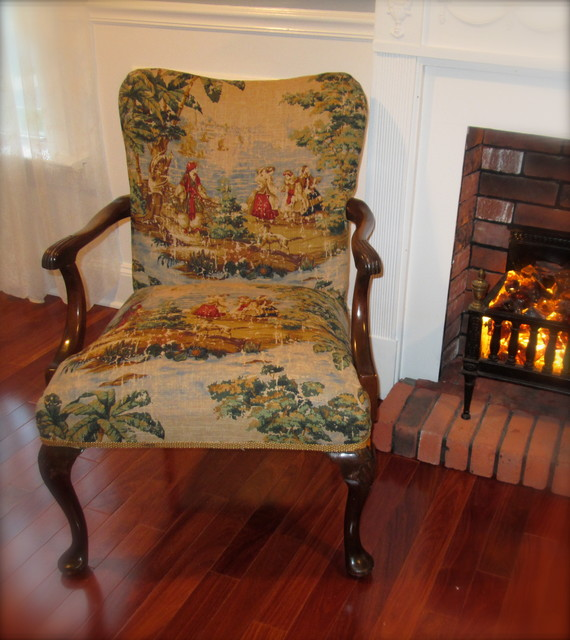 Upholstered Chairs and Sofas traditional-armchairs