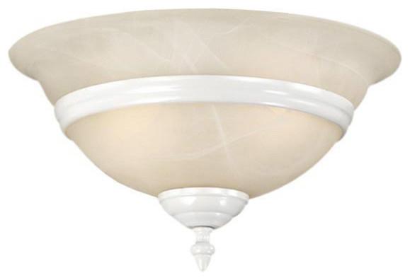 Da Vinci White Fan Light Kit traditional-ceiling-fans