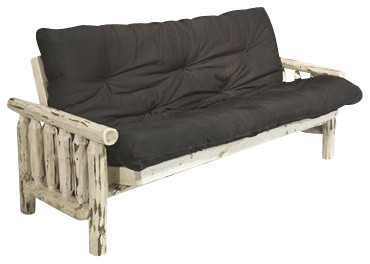 Montana Woodworks Futon Frame with Mattress in Ready to Finish rustic-futon-frames