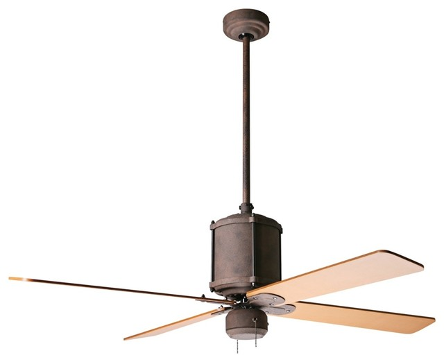 52 industry rust finish ceiling fan industrial Industrial style ceiling fans