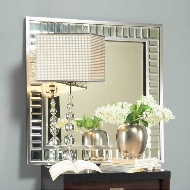 Angelo home marlowe square accent mirror in bling modern wall mirrors vancouver by cymax - Home decor wall mirrors collection ...