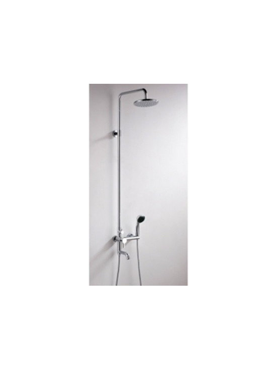 Shower Faucets - Contemporary Wall Mount Rainfall Shower Faucet--FaucetSuperDeal.com