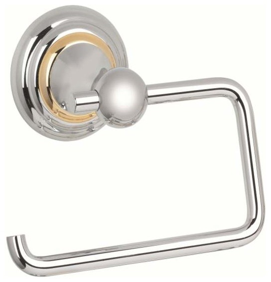 Alno embassy post tissue holder satnickel gold image chrome gold traditional bathroom Traditional bathroom accessories chrome