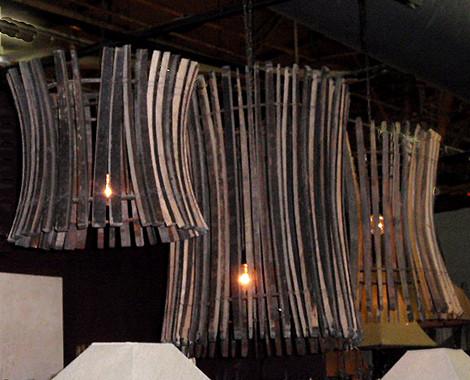 Wood Stick Chandelier eclectic-chandeliers