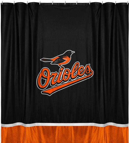 Mlb Baltimore Orioles Shower Curtain Baseball Bath