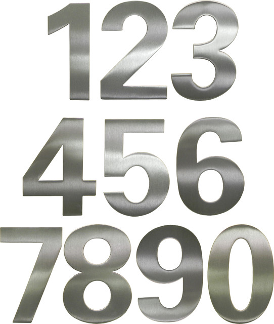 Bfuller Brushed Stainless Steel House Numbers Contemporary House Numbers Chicago By The