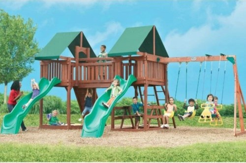 Swing Town Sequoia Playset traditional-kids-playsets-and-swing-sets