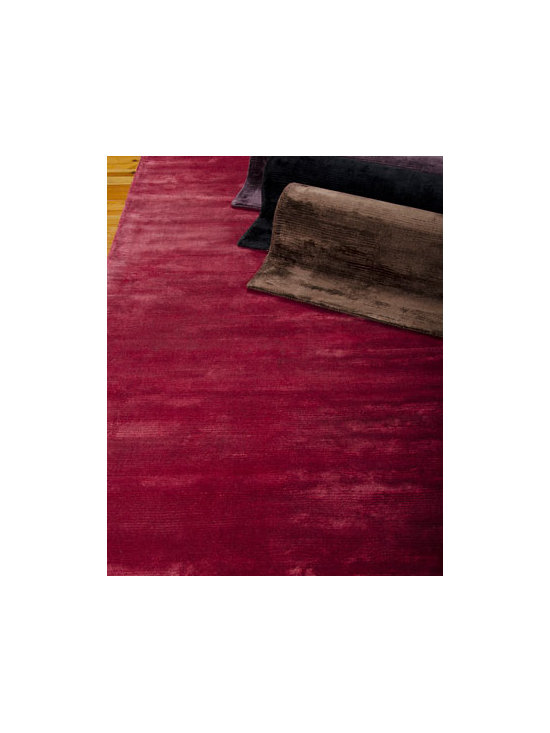 "Calvin Klein Home - Calvin Klein Home ""Lunar"" Rug - Luminescent radiance and understated modern elegance are the hallmarks of these richly hued rugs. Silk-like fibers impart a subtle sheen in a velvet-like textural quality. Hand loomed of viscose. Select color when ordering. Cotton backing applied wi..."