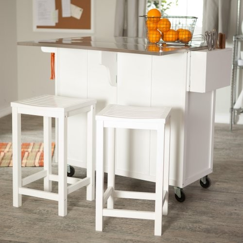 The Randall Portable Kitchen Island With Optional Stools Contemporary Kitchen Islands And