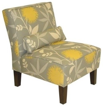 Polly Slipper Chair - Dove contemporary chairs