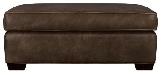 Davis Leather Storage Ottoman modern-footstools-and-ottomans