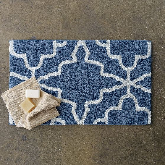 Iznik Bath Mat Modern Bath Mats By West Elm