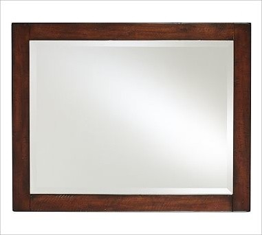 Mason Double-Width Mirror, Rustic Mahogany finish traditional-mirrors