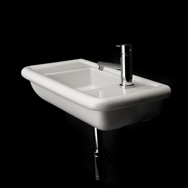 Sink In Wall : Lacava Alia Wall Mount Lav Sink - Modern - Bathroom Sinks - other ...