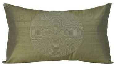 Jiti Spiral Taupe Pillow modern-decorative-pillows