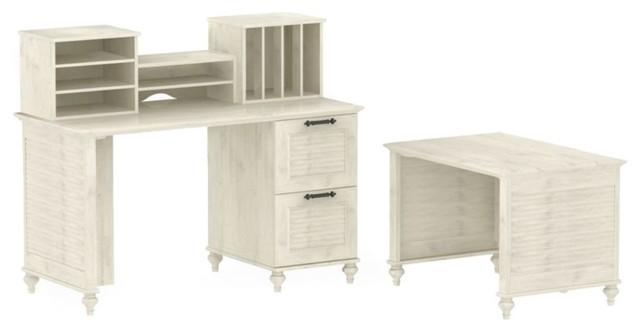 Kathy Ireland Office by Bush Furniture Volcano Dusk Driftwood Dream Office FF Co traditional-desks