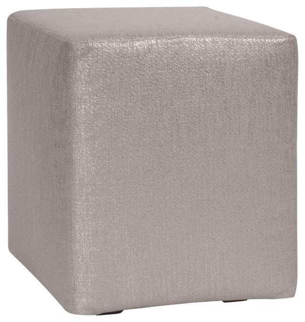 Howard Elliott Glam Pewter Universal Cube Ottomans modern-footstools-and-ottomans