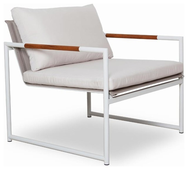 Breeze Arm Chair Stainless Steel Finish Modern Outdoor Lounge Chairs b