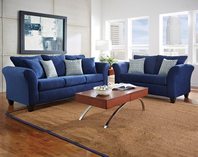 Elizabeth Royal Sofa And Loveseat Modern Sofas Columbus By American F