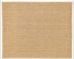 Color-Bound Seagrass Rug, Natural contemporary-rugs
