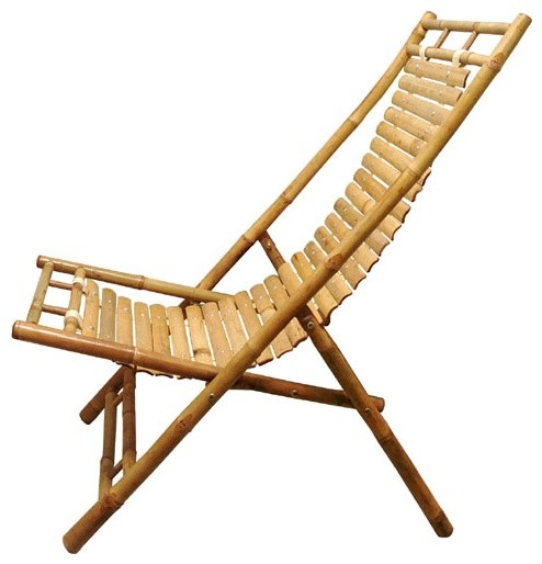 Handmade Bamboo Lounge Chair from Vietnam || Fair Trade Handicrafts from Ten Tho - Contemporary ...