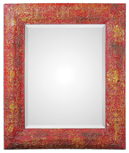 Aeliana Red Mirror mediterranean-mirrors