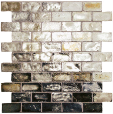 Iridescent Glass Mosaic Tile contemporary-tile
