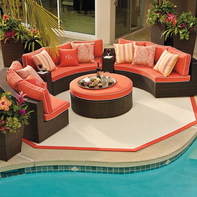 Pasadena 4-pc. Outdoor Sofa Set, Patio Furniture traditional-outdoor-lounge-sets