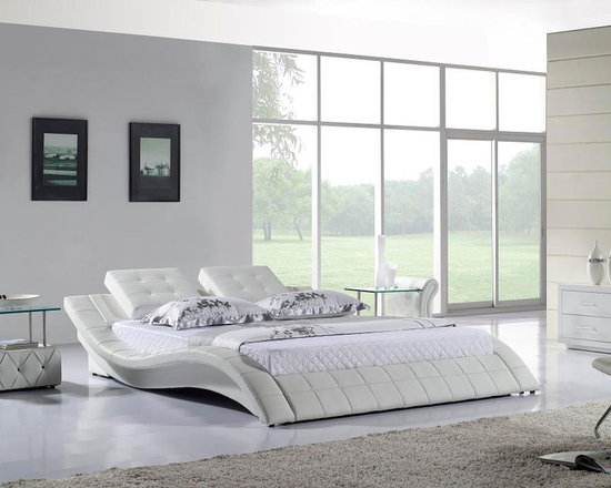 Leather Bed - Italian Leather - HX-A021-W -