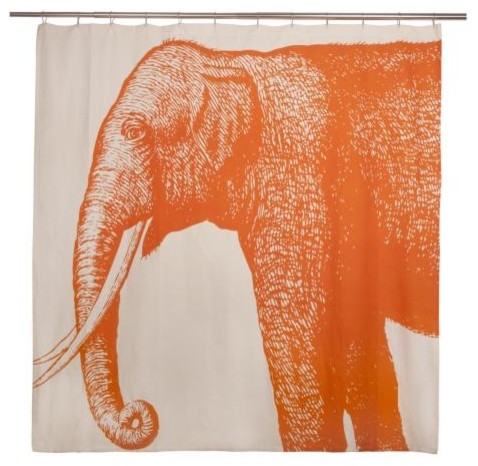 Thomas Paul Elephant Shower Curtain asian shower curtains