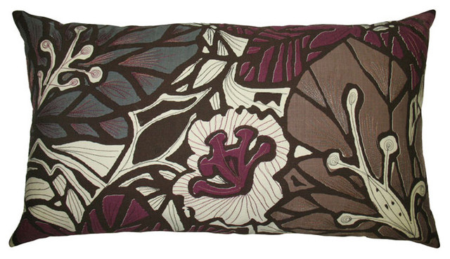 Koko - Flora 15x27 Pillow modern bed pillows