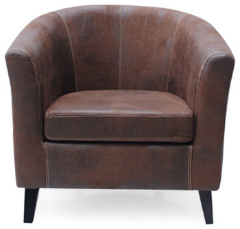 Barrel Aviator Club Chair Modern Armchairs And Accent